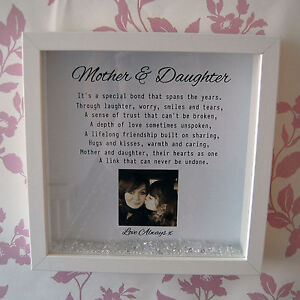Personalised Framed Print Mother Daughter Gift For Mum