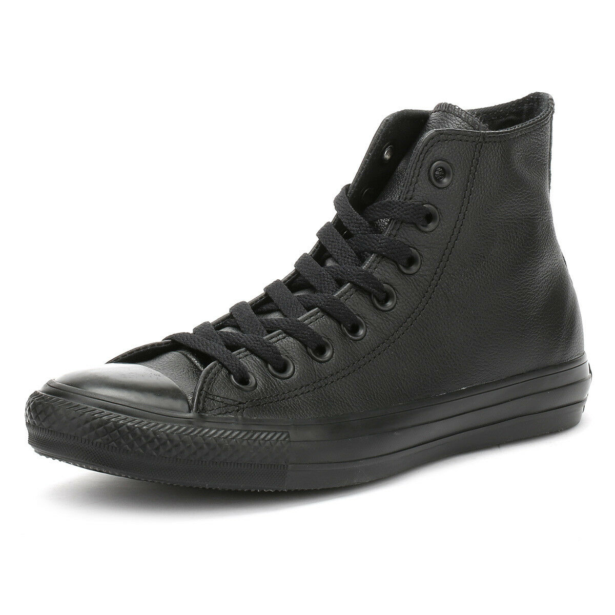 Converse Unisex Trainers Monochrome All Star Up Leather Hi Tops Lace Up Star Sneakers 5dff10