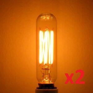 Salt Lamp Bulbs 40w : 2-pack 40W Edison T8 Radio Antique Light Bulb, E12 Candelabra 40 watt Steampunk eBay