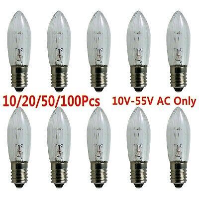 20x 3300K E10 LED-Ersatzlampen Glühbirnen Topkerze für Lichterkette 10V-55V