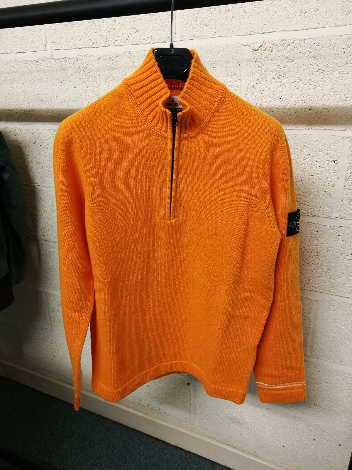 Stone Island Half Zip Knit In Orange   BNWT
