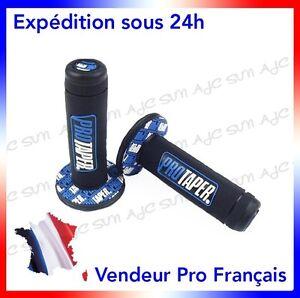 Paire-de-poignees-Pro-Taper-Bleu-pour-Moto-cross-Suzuki-RM-50