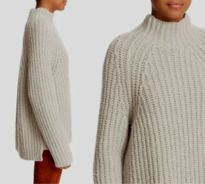 5a35ae623d THEORY Rifonia O Ribbed Lush Wool-Silk-Cashmere Blend Mockneck ...