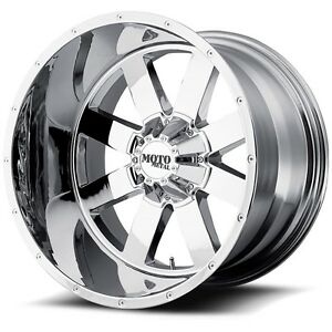 Details About 18 Inch Chrome Wheels Rims Chevy Dodge Ford Truck 8 Lug Moto Metal Mo962 18x10