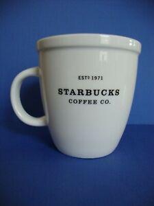 Starbucks Coffee Mug White Black 2001 Barista Large Coffee Cup RARE In UK oAY2T4oO-09092400-180789420