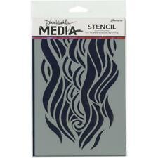 "Dina Wakley Media Stencils 9/""X6/""-Fractured Hexagons"