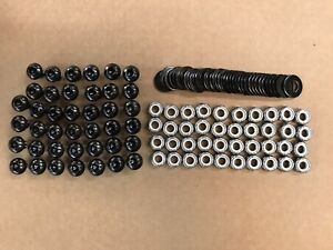 40 BLACK FENDER FLARE BUTTON BOLTS NUTS WASHERS STAINLESS STEEL NICKEL PLATED