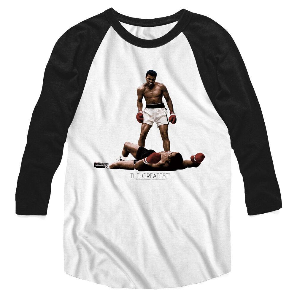 e5ad7d5516f922 Muhammad ALI MENS New Raglan T-Shirt ALL OVER LISTON Licensed Sizes SM - 2XL