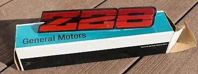 1986-1987 Camaro Front Header Panel Emblem Except Z-28 Brand New GM Reproduction