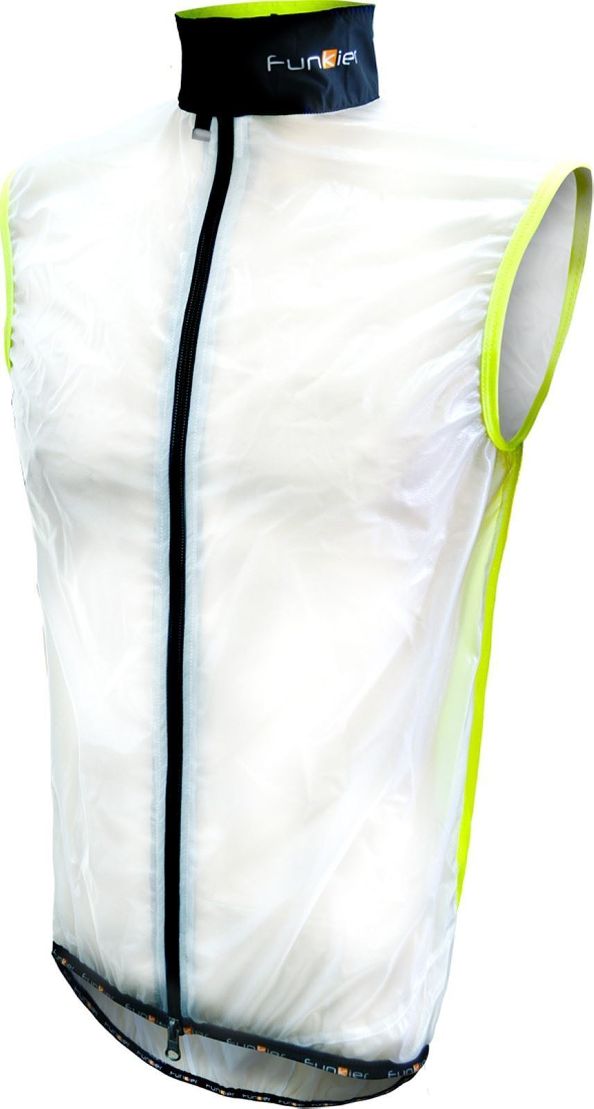 Funkier Evo WV-1510 Windbreaker Gillet  Reflective Trim in Clear Yellow Medium  authentic quality