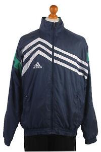 Vintage-90s-Adidas-Casuals-Retro-Shell-Chaqueta-de-pista-Chandal-Top-sizexxl-SW1474