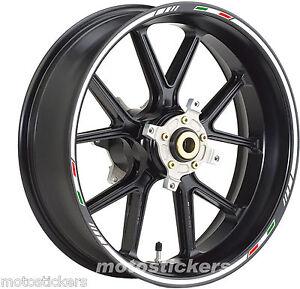 APRILIA-Mana-850-Adesivi-Cerchi-Kit-ruote-modello-Sport-tricolore