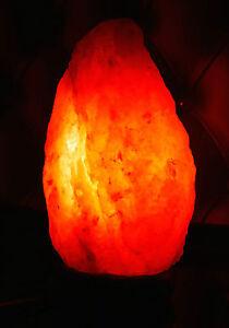 Natural-Himalayan-Rock-Salt-Lamp-2-3kg-On-Wooden-Base-Plug-amp-Bulb-Included