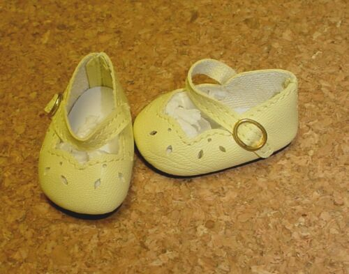 "54mm YELLOW Girl Dressy Mary Janes 13/"" Patsy others DOLL Shoes P91 Toni"