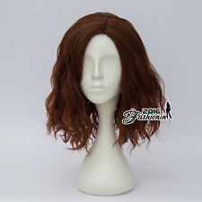 35CM Mixed Brown Ombre Curly Women Lolita Heat Resistant Party Hair Cosplay Wig