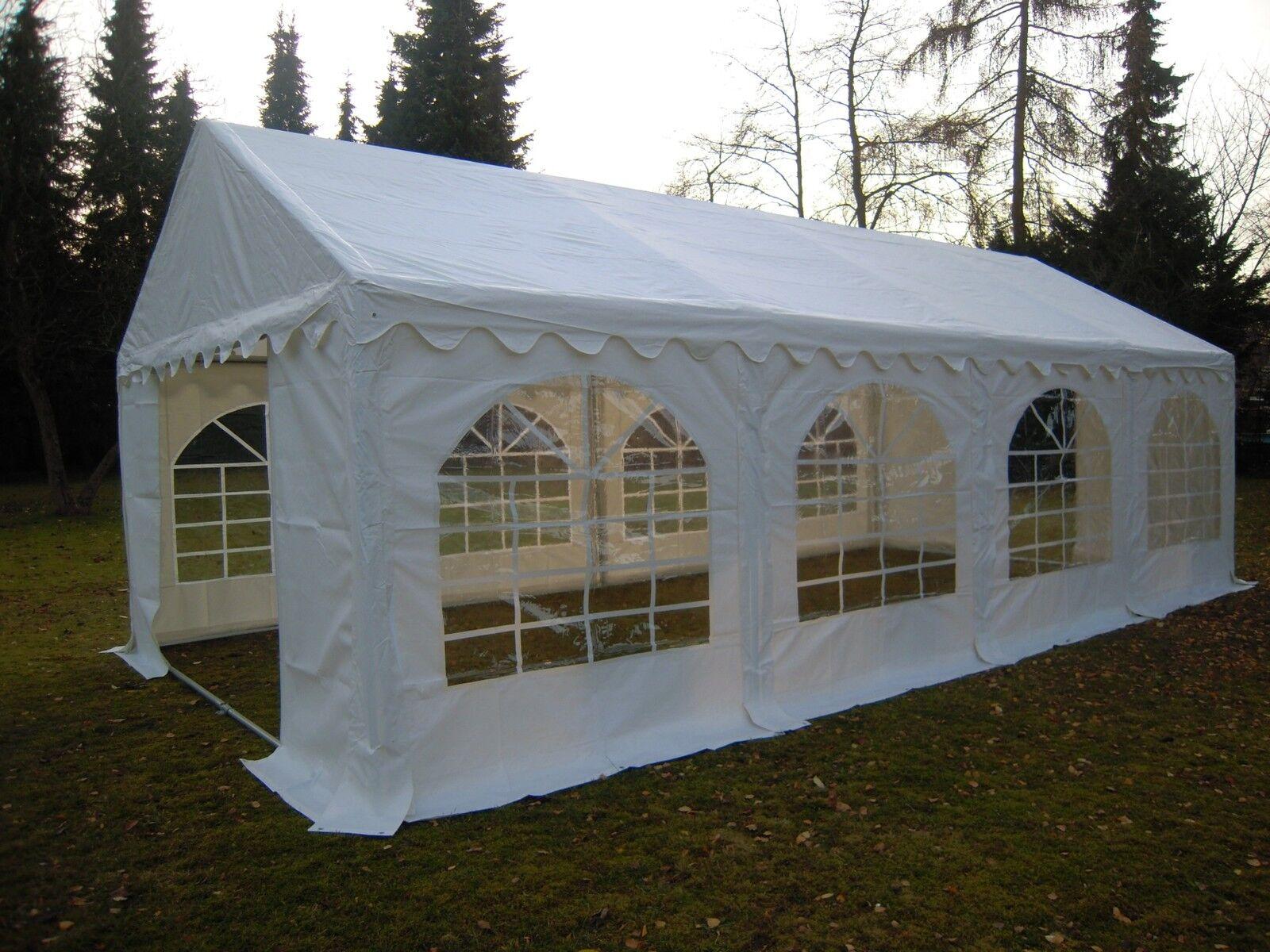 5x8m PVC Partyzelt Bierzelt Zelt Gartenzelt Festzelt Pavillon weiß NEU | Wirtschaftlich und praktisch  | 2019  | Hohe Qualität und Wirtschaftlichkeit
