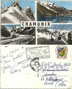 74-Chamonix-Divers-Aspects-1960-Flamme-Postale-Ski