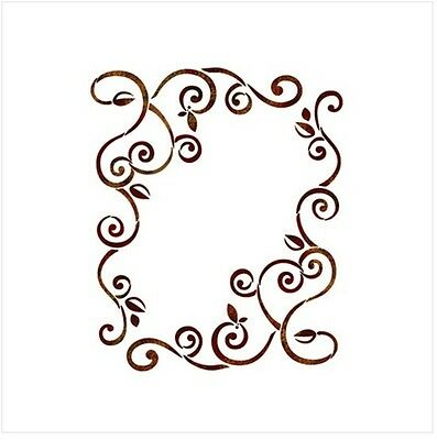 "STENCIL WALL STENCILS PATTERN NEW 9.05""x6.49"" Airbrush PVC TEMPLATE vine/ivy"