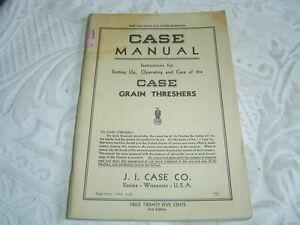 Case-grain-threshers-set-up-care-operator-039-s-manual-book-manual