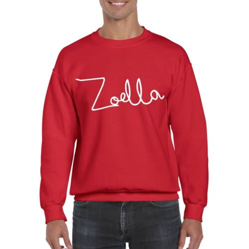 Zoella Hoody Fancy Dress Present Hoodie Unisex Kids Inspired Gift Tee Top Dress