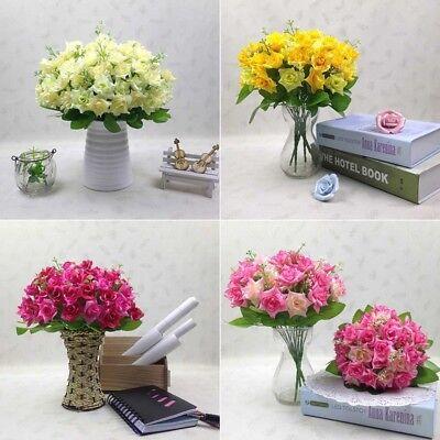 15 Köpfe Künstlich Rosen Bouquet Seidenblumen Kopf Blumen ...