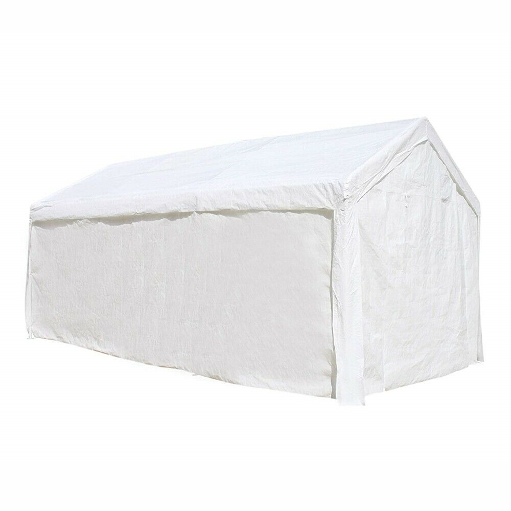 Aleko Heavy Duty Outdoor Gazebo Canopy Tent With Sidewalls White Color Ebay