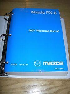 2007 mazda rx 8 rx8 service manual shop repair workshop ebay rh ebay com 2004 Mazda Mazda 6 Mazda RX-8 Manual Transpission