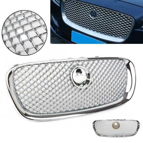Chrome Upper Grille Radiator Grill For Jaguar XF 2008 2009 2010 2011 Plastic