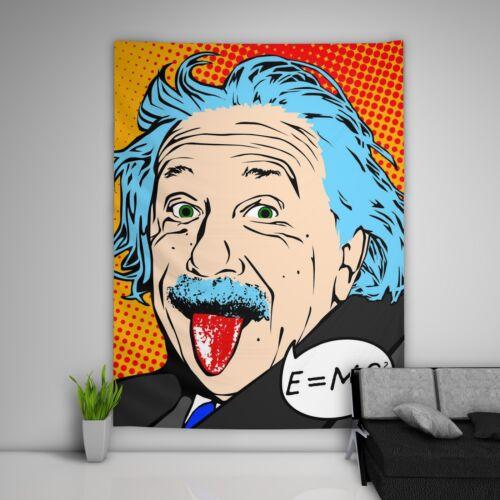 Pop Einstein Wandteppich Kunst Wandbehang Tisch Bettdecke Wohnkultur