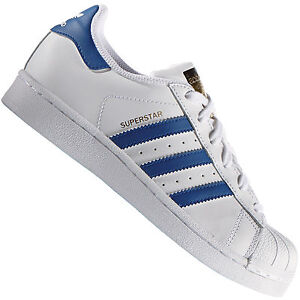 the best attitude c8c8c 5c1ac Adidas-Originals-Superstar-Foundation-Blanc-Bleu-S74944-Baskets-
