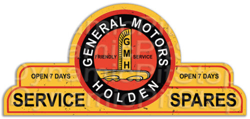 65x30cm General Motors Holden Shield Tin Sign