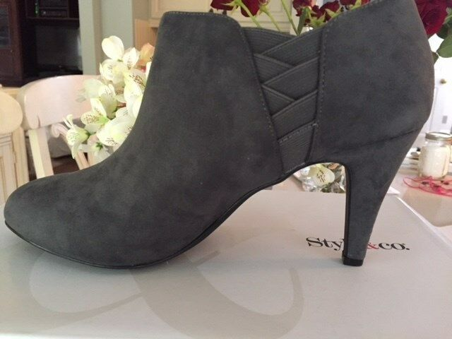 Brand New in the Box  Style & Co. Grey Suede Booties