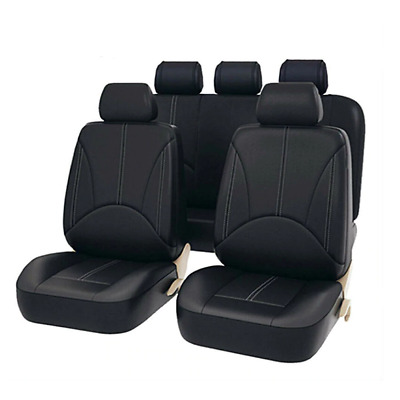 Black-Red Seat Covers for Fiat Ducato Car Seat Cover Set 1+2