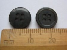 10 pack small Smoke Grey round plastic Buttons 11mm 4 hole British made lovely!