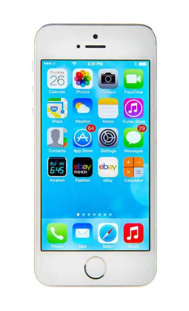 Apple iPhone 5s - 16GB - Silver  Smart Phone A1453