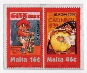 9948) Malta 2003 MNH Europa 2v