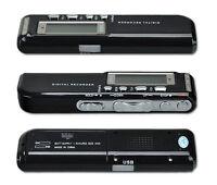 New Protable 8GB 650Hr USB Digital Audio Voice Recorder MP3 Player Dictaphone