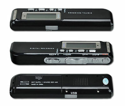 PRO 8GB 650Hr USB LCD Screen Digital Audio Voice Recorder Dictaphone MP3 Player