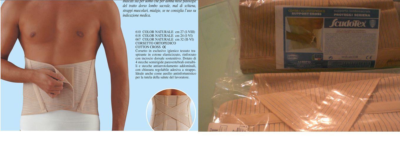 Corsetto Ortopedico Scudotex Cotton Cross 32cm cotone elasticizzato traspirante