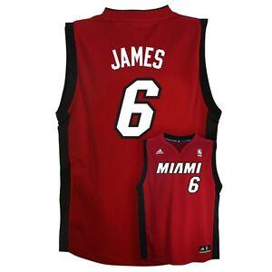 sale retailer d71ae 52d0c Details about ($50) Miami Heat LeBRON JAMES nba ADIDAS Jersey YOUTH KIDS  BOYS (xl)