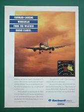 3/1995 PUB ROCKWELL COLLINS AVIONICS WEATHER RADAR DOPPLER DETECTION AIRLINER AD