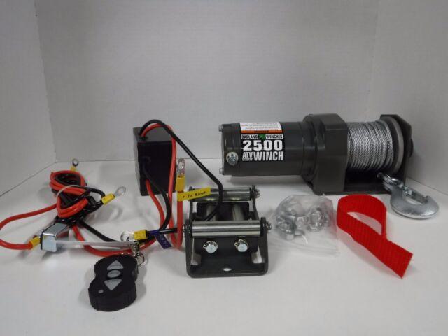 badland atv utility 2500 lb automatic load brake remote 12v electricnew winch, atv,12 volt, 2500 lb capacity ( 60)