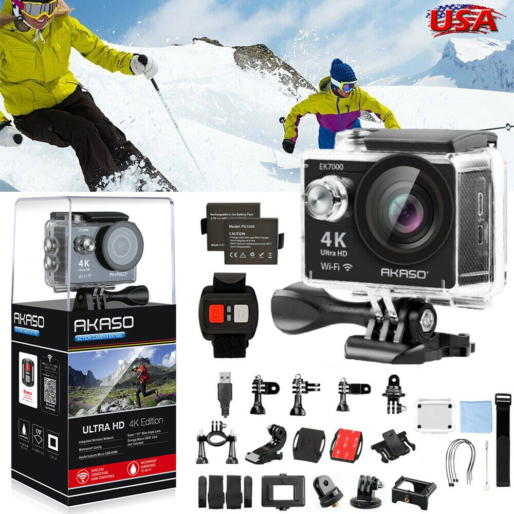 AKASO EK7000 4K WIFI Sports Action Camera Ultra HD 12MP DV Camcorder Waterproof Featured