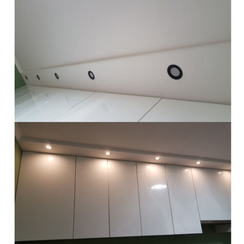 LED Spot Einbaustrahler Set Einbauleuchte Deckenleuchte Strahler 3W-15W Licht