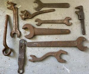 Lot de Clefs Ancienne Garage Outil Art Populaire Atelier Mécanique Voiture