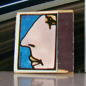 Vintage-Matchbook-Cover-B11-Peter-Max-Artist-Pop-Art-Neo-Expressionism-Face
