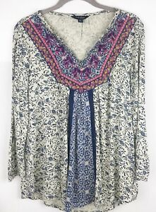Womens Embroidered Gypsy Top