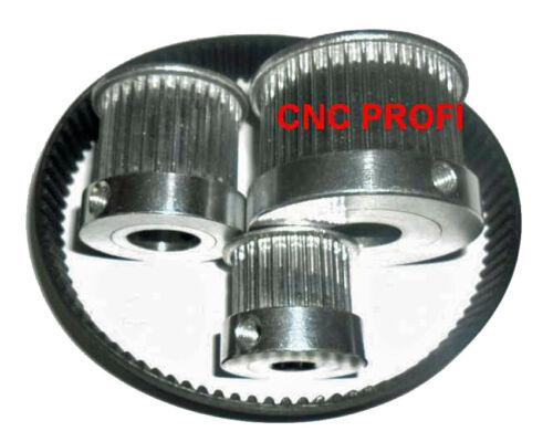 Zahnriemenrad HTD-3M 60 Zähne Bohrung-fi 8//16 mm–Zahnriemenbreite bis 15 mm