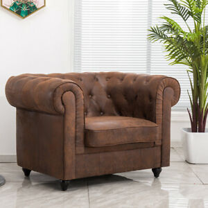 Faux Leather Armchair Settee Sofa