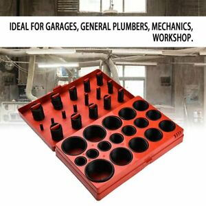 419Pc Universal Rubber Metric O-Ring Assortment Set Case Garage Workshop Kit